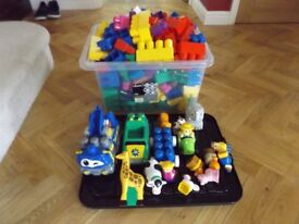 Mega blox large assortment over 225 pieces