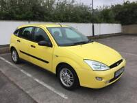 FORD FOCUS 1.8 MILLENIUM EDITION, NEW MOT MAY 2018, BRIGHT YELLOW, LEATHER INTERIOR, READY TO GO