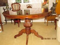 Italian Style Round Dining Table and Four Chairs (will separate)