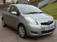TOYOTA YARIS 1.4 TR D-4D 5d 89 BHP 1 PREVIOUS KEEPER + AUX CONNECTION FULL SERVICE RECORD (7 STAMPS)