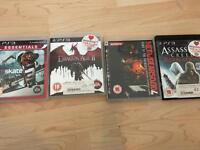 4 PlayStation 3 games