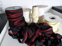 JOBLOT OF SEWING ELASTIC , LACE ETC