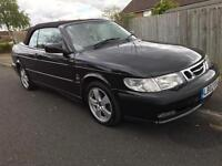 Saab 9-3 se turbo convertible 2002 low mileage one owner fsh aa/rac welcome,p-ex welcome