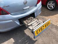 57 Plate Vauxhall Corsa 1.4 Club - Mot May 2018 - ***Bike Rack - Panoramic E/Sunroof