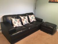 3 Seater Leather Sofa - DFS