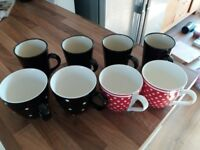 8 Assorted mugs for sale