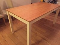 Dining Table, white wood legs.