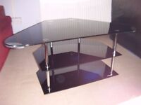 Black Glass TV stand in nice condition