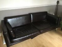 3 seat faux leather sofa