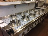 CHINESE WOK COOKER, NEW, 5+4, DIRECT FROM FACTORY, CHOICE OF BURNERS, NATURAL GAS OR LPG £3600