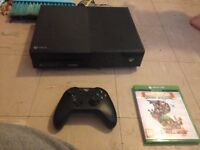Xbox one and controller and one game