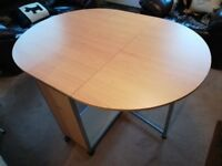 Drop leaf dining table and chair
