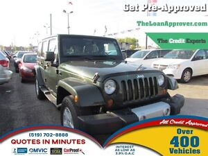 2011 Jeep WRANGLER UNLIMITED Sahara | 4X4 | LEATHER | 2 TOPS | H