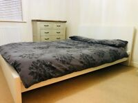Standard Double Bed with Mattress