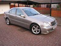 54 Reg Mercedes C220 2.1 DIESEL AUTOMATIC, Mot April 17. £2,575. (P/X Welcome)