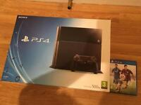 500gb PS4 CONSOLE COMPLETE with FIFA 15 £150 no offers