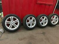 New model Audi Q7 20-alloys wheels and Tyres ex condition must be cheap (£450)