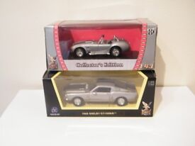 2 x SHELBY American 1-43 scale Diecast model cars, Cobra & GT-500KR