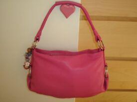 Radley Lilypond Pink Leather Shoulder Scoop Tote Handbag and Dustbag