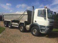 Daf cf85 360 8x4 Tipper euro 5 2007 aircon 1 owner on springs