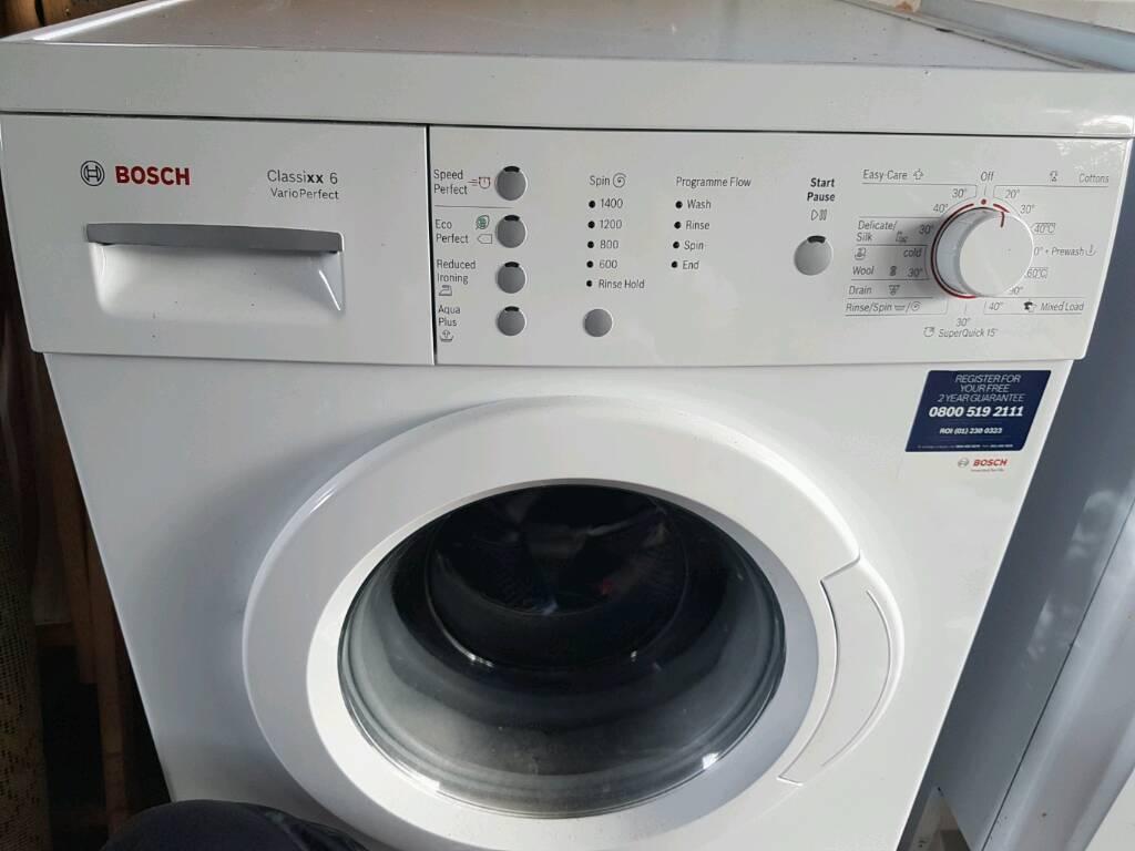 bosch classixx 6 washing machine in cyncoed cardiff. Black Bedroom Furniture Sets. Home Design Ideas