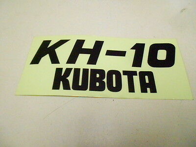 68132-57270 Kubota Kh-10 Excavator Decal Logo Sticker Badge Emblem Kh10