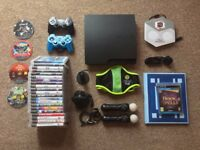 Playstation 3 + Controllers (Incl. Move) + 26 Games