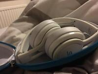 SMS Audio headphones in white