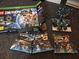 Lego dimensions starter pack and extras for Xbox 1