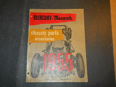 1955 MERCURY AND MONARCH CHASSIS & ACCESSORIES PARTS CATALOG BOOK FORD OF CANADA