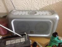Bush Radio Tuner w many presets 2 woofers & nice blue led light