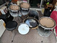 Maprex Pro M 5-piece drum kit (dark blue and grey fade)