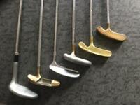 COLLECTION OF SIX VINTAGE CLASSIC PUTTERS