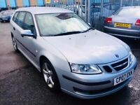 SAAB 9 3. AUTOMATIC ESTATE DIESEL 1.9 TID AERO HALF LEATHER SEATS 2007