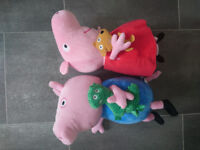 Peppa Pig and George soft toys