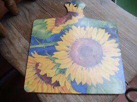 Sunflower Melamine Chopping Board