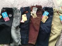 x6 Pairs of Brums young boys trousers. All new, with labels attached (except one pair).