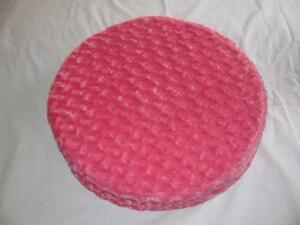 Pink Plush Round Cushion Pet Bed Great For Small Dogs & Cats New