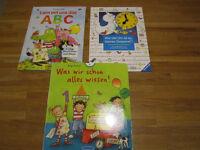 GERMAN educational board books, 4+years - Deutsche Kinderbücher, ABC, Uhr, etc.
