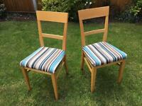 Dining room chairs - pair