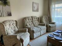 Sofa and 2 recliner armchairs