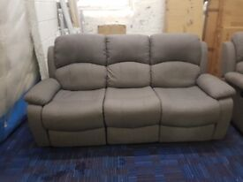Ex showroom display 3 seater recliner and 2 seater recliner RRP £1098