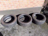 """3 x 205 55 16"""" Part Worn Tyres £30"""