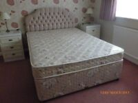 MYER'S ACCLAIM DOUBLE DIVAN BED WITH HEADBOARD