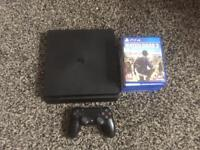 PS4 SLIM 500GB BOXED WITH GAMES AND 7 MONTHS WARRENTY