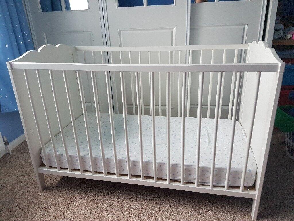Ikea white cot £30