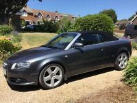 Audi A4 convertible TDI S -line auto dolphin grey excellent condition