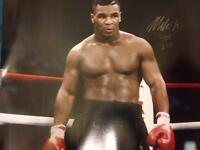 Mike Tyson signed 16x20 framed coa proof