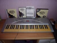 ELECTRIC KEYBOARD ORGAN LEARN TO PLAY PIANO DVD AND BOOK MUSIC STAND JOB LOT BUNDLE