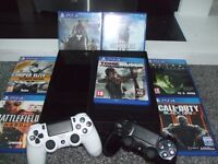Sony playstation 4 for sale. 7 games and two dual shock 4 pads. £270